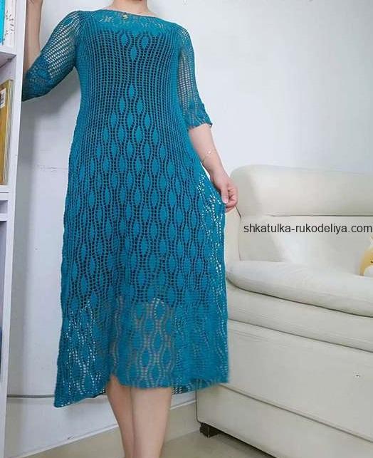 вязание крючком, платье, схема, для женщин, летнее, реглан, длинное