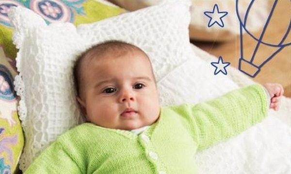 вязание спицами, комплект, детский, жакет, полукомбинезон, носочки, описание, 6-9 месяцев, салатовый