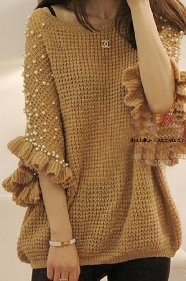 вязание крючком, джемпер, свободный силуэт, схема, выкройка, для женщин, нарядный, рукав летучая мышь