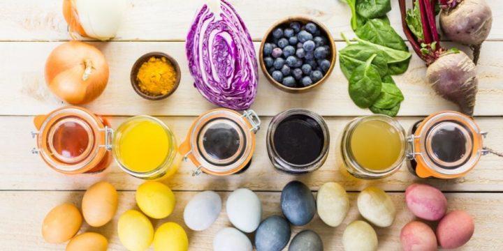 Натуральные яичные красители