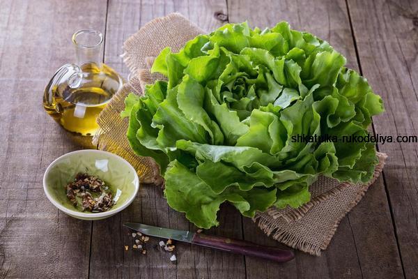 Маска для лица из листьев салата